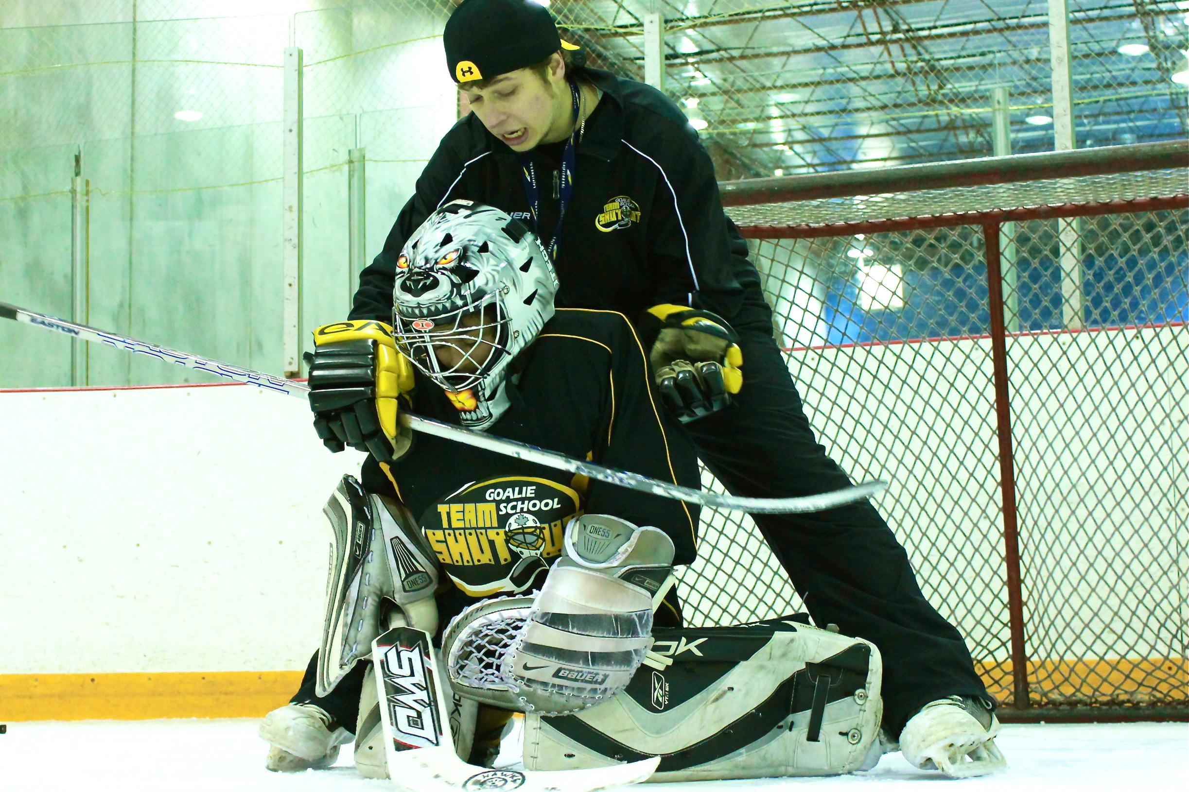 Butterfly Stick Save Drill Modification Team Shutout Goalie School